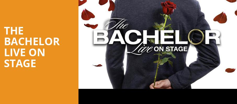 The Bachelor Live On Stage, Grand Sierra Theatre, Reno